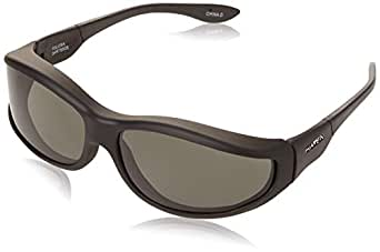 Haven Fits Over Sunwear Tolosa Over-Prescription Sunglasses,Black Frame/Gray Lens,one size