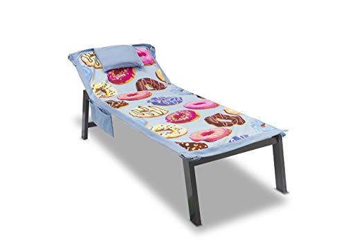 Telo mare da lettino con cuscino modello comodo summer disegno ciambella
