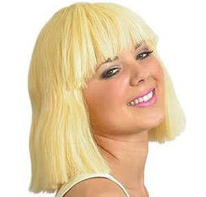 Fancy Dress Pageboy 12 Wigs for Costumes & Outfits Accessory by UKPS (Blonde Pageboy Wig)
