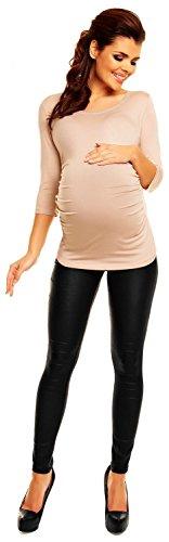 Zeta Ville - Maternité - Top jersey de grossesse - Haut extensible - femme- 338c écru