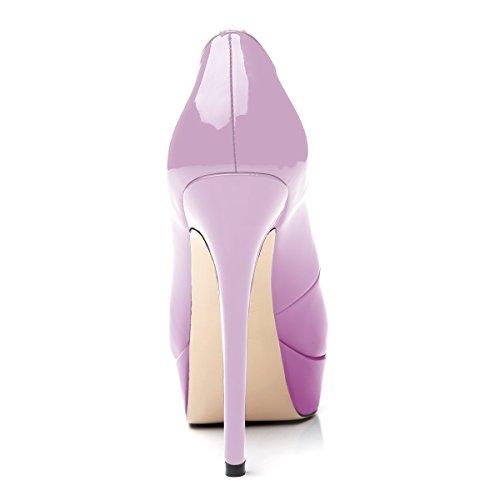 Ubeauty - Chaussures Femme - Chaussures À Talons - Chaussures Avec Plate-forme - Peep Toe Dégradé Violet