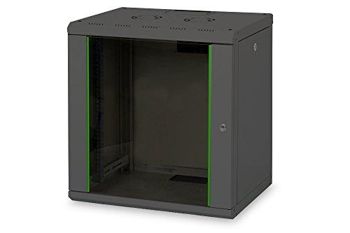 DIGITUS Professional 12HE Netzwerk Wandgehäuse / Wandschrank, Unique Line, 643x600x450 mm, schwarz (RAL 9005)