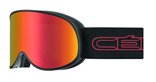 Cébé Attraction Skibrille, Matt Black/Red, L