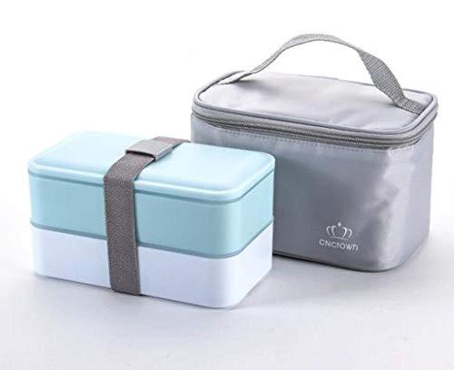 chenqian1 Bento Box Hochwertige 1200 Ml Doppel Lunch Box Lunch Bag Lebensmittelbehälter Mikrowelle Lunch Box