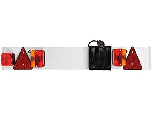 5 Licht Anhänger (Anhänger Lichtleiste Lichtbalken Rücklicht ca. L122 x H2 (H6) x B14 cm (Typ 1))