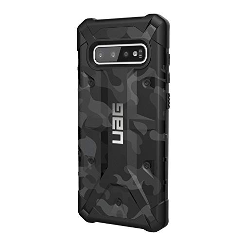 Urban Armor Gear Pathfinder Hülle für Samsung Galaxy S10+ / S10 Plus nach US-Militärstandard [Qi kompatibel, Sturzfest, Verstärkte Ecken] - schwarz (camo)