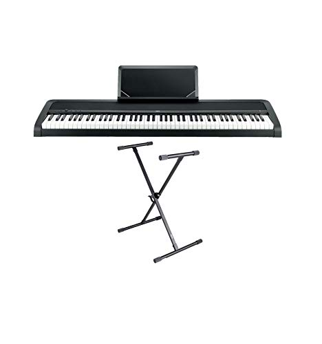 Pack Korg B1 noir - Piano numérique 88 notes + Stand en X