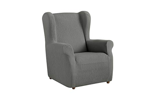 Textilhome - Stretchhusse für Ohrensessel TEIDE , 1 Sitzer - 70 a 100Cm. Farbe Grey