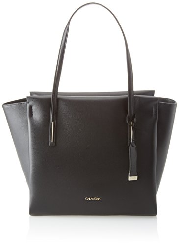 Calvin Klein Damen Frame Large Shopper Tote, Schwarz (Black), 15x32x48 cm (Shopper Tote Bag)