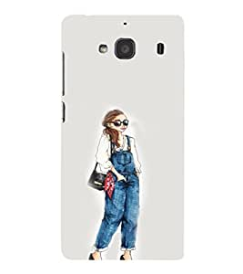 EPICCASE Dungry girl Mobile Back Case Cover For Mi Redmi 2s (Designer Case)