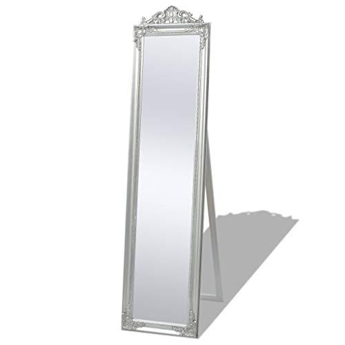 vidaXL Miroir sur pied Style baroque 160 x 40 cm Argenté