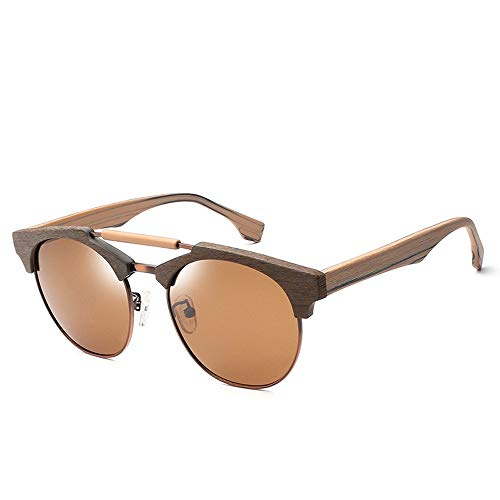 Herren Sonnenbrillen Plate Large Frame Polarized Sonnenbrillen Doppelstrahl-Sonnenbrillen LTJHJD (Color : 02braun, Size : Kostenlos)