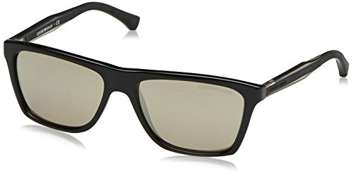 Emporio Armani Herren 0EA4001 50175A 56 Sonnenbrille, Schwarz (Black/Brown Gold),