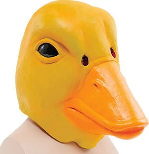 Preisvergleich Produktbild Ente Maske Gummi Erwachsenen