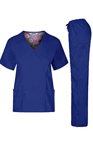 medpro-womens-medical-scrub-durable-and-soft-y-neck-line-top-and-cargo-pants-royal-blue-m-gt-7811