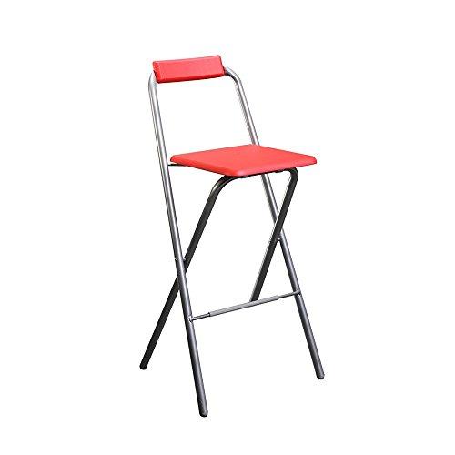 Chaise de bar pliante Louna rouge