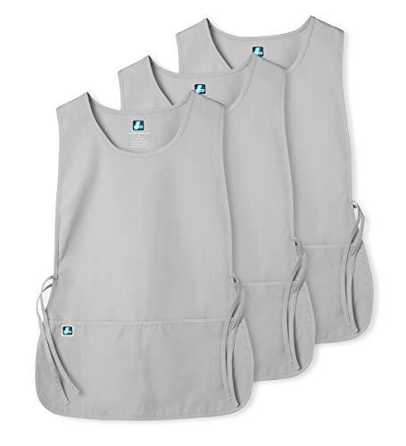 Adar Uniforms Unisex (3 Pack) Arbeitsschürze mit Taschen für Schönheit und medizinische Berufe 702 Farbe: SLV   Größe: X-Large Slv Tasche