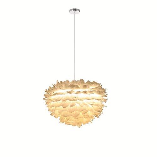 BU-SOH Deckenleuchte Schrumpf Feder Kronleuchter Kreative Mode Kunst Warme Wolke Lampe Schlafzimmer Led Nordic Dekorative Lampe Dekoration Pendelleuchte (Farbe : Weiß, Größe : 110-220V) - Bu Mode