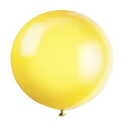 Unique Party -  Globos Gigantes de Látex para Fiestas - 90 cm - Amarillo Limón - Paquete de 6 (56725)