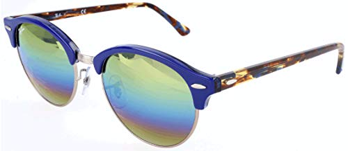 RAYBAN JUNIOR Unisex-Erwachsene Sonnenbrille Clubround Metallic Light Bronze/Lightgreymirrorrainbow3, 51