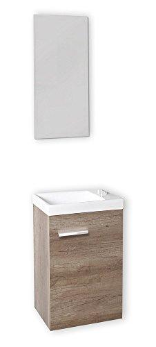 Baikal-24010555-Mueble-con-lavabo-y-espejo-para-aseo-color-roble-gris-madera