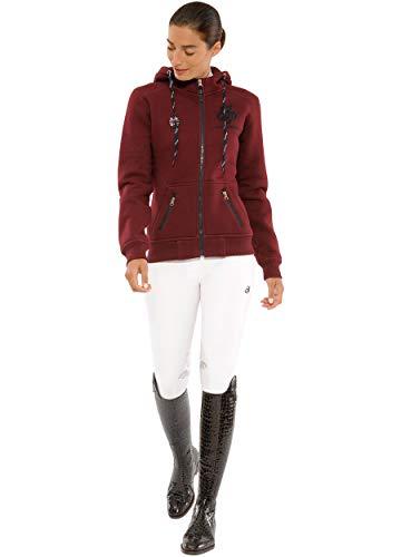 SPOOKS Damen Sweatjacke, Kapuzen-Jacke Mädchen Kinder Frauen - Awa Jacket Bordeaux S - 2