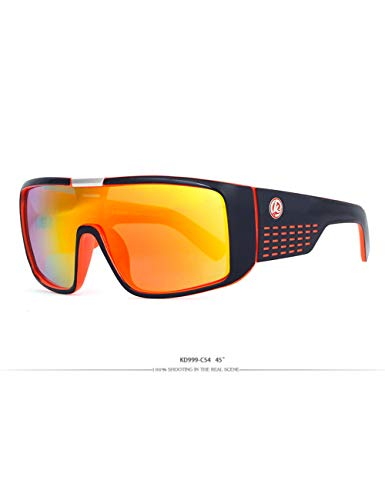 HNPYY Sonnenbrillen Shield Sonnenbrillen Herren Single Lens Steampunk Goggles Surfing Glasses, D