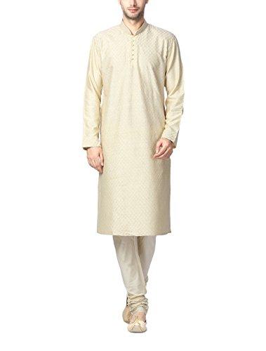 Peter England Men's Kurta Pyjama (8907306235124_PO31580333_104_Cream)