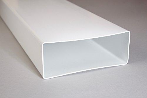 Naplesuk 220mm x 90mm Megaduct piatto canale tubi in plastica 1metre di lunghezza-bianco