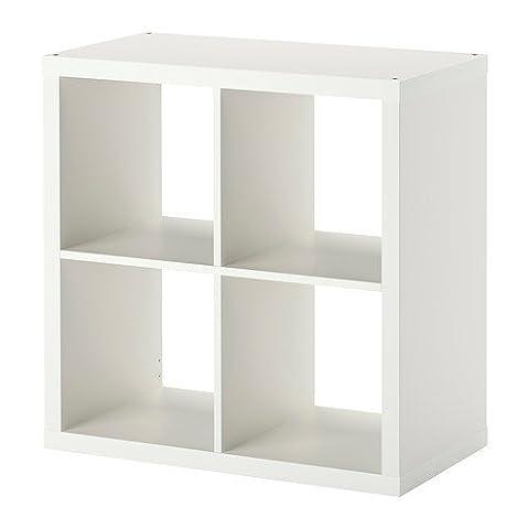 IKEA KALLAX Regal in weiß; (77x77cm); Kompatibel mit EXPEDIT