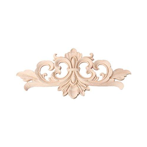 Huwaioury - Aplique madera tallada esquinas, decoración