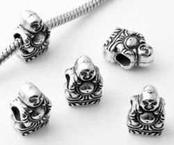 Buddha - Damen Bead - passend für Pandora Schmuck oder ähnlichem - versilbert