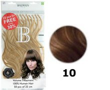 Balmain Fill-In Extensions Value Pack Natural Straight- 10 (level 6), dark blond