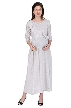 bf577cf86ed MomToBe® Women s Cotton Maternity Dress  Amazon.in  Clothing ...