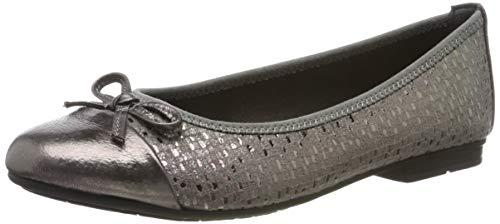 Jana 100% comfort 8-8-22109-23, Bailarinas para Mujer, Gris Grey Metallic 212, 39 EU