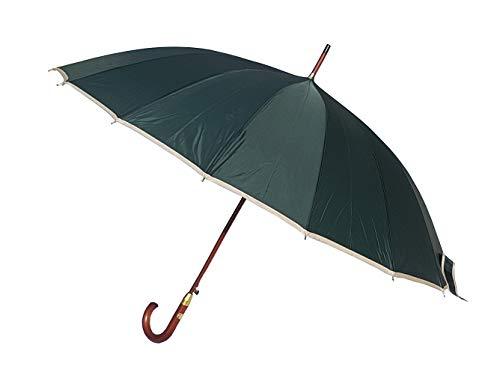 Paraguas XXL 134 cm clásico Verde Oscuro 16 Varillas