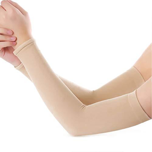 Romote Männer Frauen UV-Schutz Kühlarm Ärmel Unisex Lange Arm-Abdeckung Sleeves Für Outdoor Sport Jogging Basketball Driving (Hautfarbe) (Für Driving Mädchen Spiele)