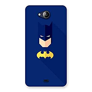 Radiant Yellow Knight Blue Face Back Case Cover for Canvas Play Q355