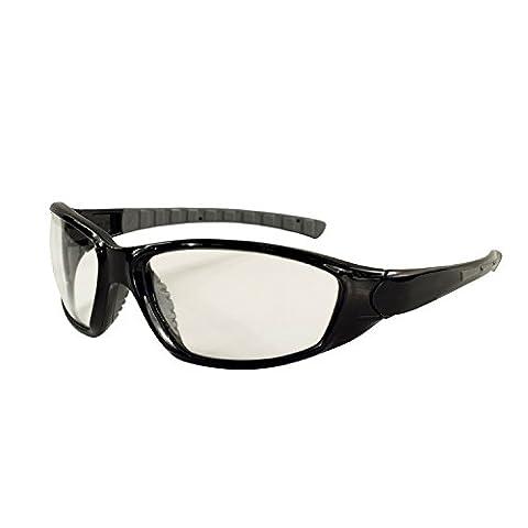 ERB 15412Munition Schutzbrille mit Klar Anti-Fog Objektiv ohne Schaum Liner, Rahmen schwarz (12Stück)