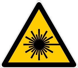 Novap-Pannello in pericolo radiazione laser-triangolo rigida, 300 Mm