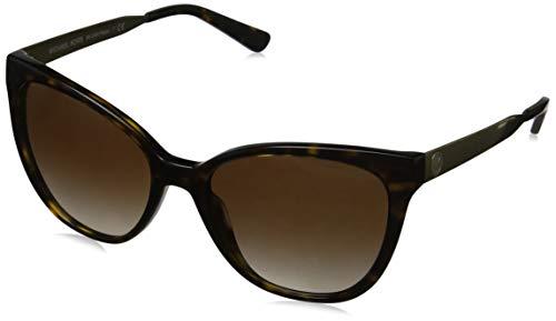 Michael Kors Damen NAPA 329313 55 Sonnenbrille, Dark Tortoise/Smokegradient,