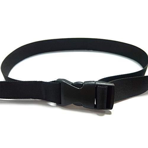 REKYO 1.5 inch Wide 10 Yards Black Nylon Heavy Webbing Strap and 12 PCS Flat Side Release Buckles Nylon Webbing Tape for…