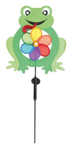 Näve - Baliza Solar Decorativa, Motivo de Rana con Molinillo de Viento