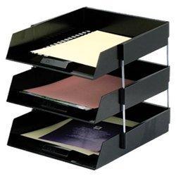 set-of-3-black-a4-foolscap-desk-file-letter-trays-8-metal-riser-rods