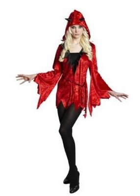 Teufel, Devil, Kostüm für Erwachsene, Damenkostüm, Halloween, Karneval, Fastnacht (Unikate Kostüme)