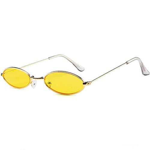 SKCLBOOS Sonnenbrillen 90er Jahre ovale Sonnenbrille Zonnebril Dames kleine Runde für Frauen 2018 Rihanna getönte rosa Männer Brille Damen Vintage schmale Brille