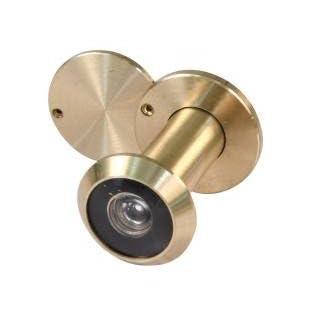 Ansamer Türspion Messing poliert 15–25mm mit Deckel–26249