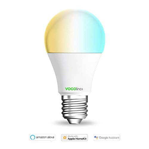 VOCOlinc L2 - Lampadina a LED Smart e Dimmerabile . Crea l'Atmosfera Perfetta in Casa . Funziona con Apple HomeKit, Alexa, and Google Assistant . Nessun Hub Richiesto . Wifi 2,4 Ghz.
