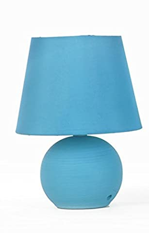 Lampe pied Boule - 25 cm (Bleu)