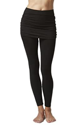 Women's Lightweight Skirt Leggings Black
